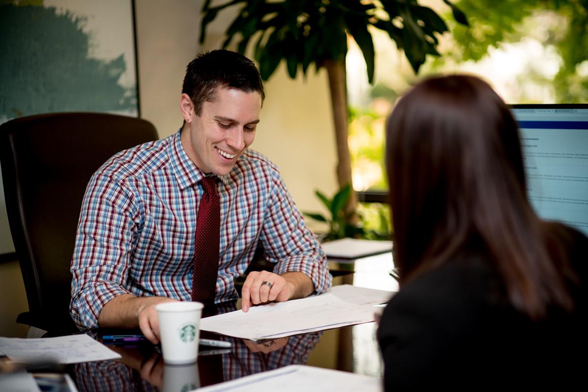 Gabriel Lewit with a Client